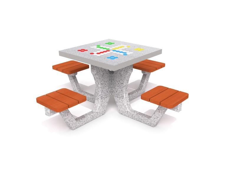 Concrete table for ludo game 01 Inter-Play Spielplatzgeraete