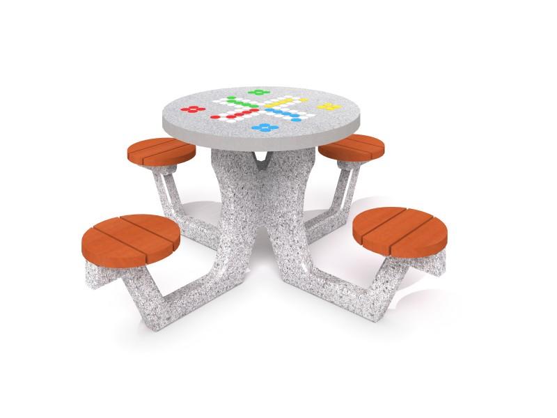 Spieltisch  aus Beton - Ludospiel Inter-Play Spielplatzgeraete