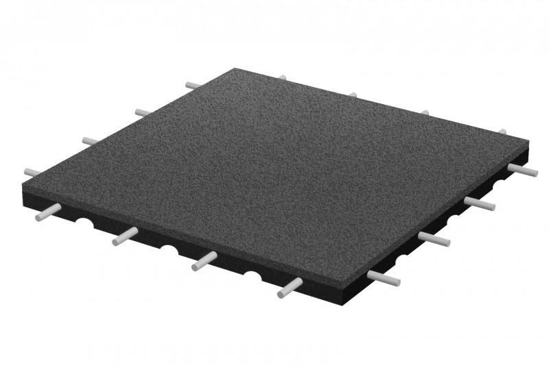 Inter-Play Spielplatzgeraete Fallschutzplatte 500x500x60 mm
