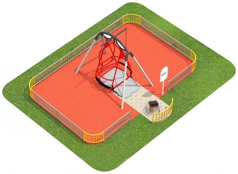 Inter-Play Spielplatzgeraete ZAUN für Saturnschaukel