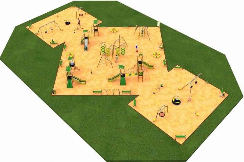 Inter-Play Spielplatzgeraete LIMAKO for teenagers layout 7