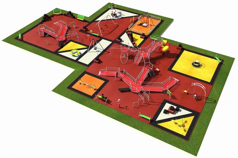 INTEGRADO layout 5 Inter-Play Spielplatzgeraete Park
