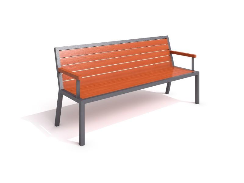 steel bench 18 Inter-Play Spielplatzgeraete
