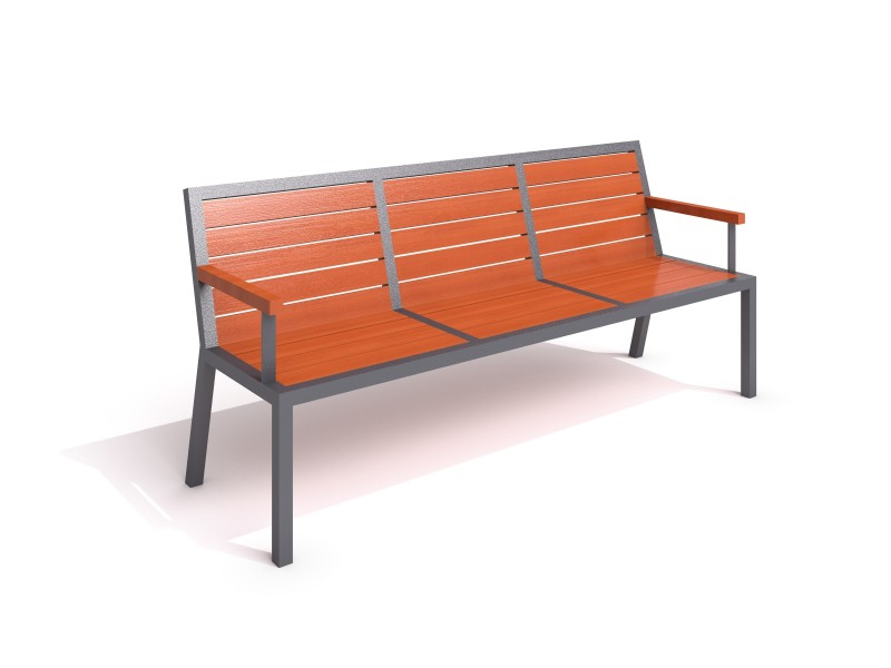 steel bench 19 Inter-Play Spielplatzgeraete