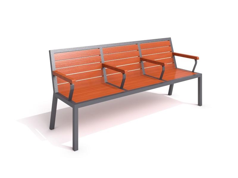 Sitzbank aus Stahl 20 Inter-Play Spielplatzgeraete