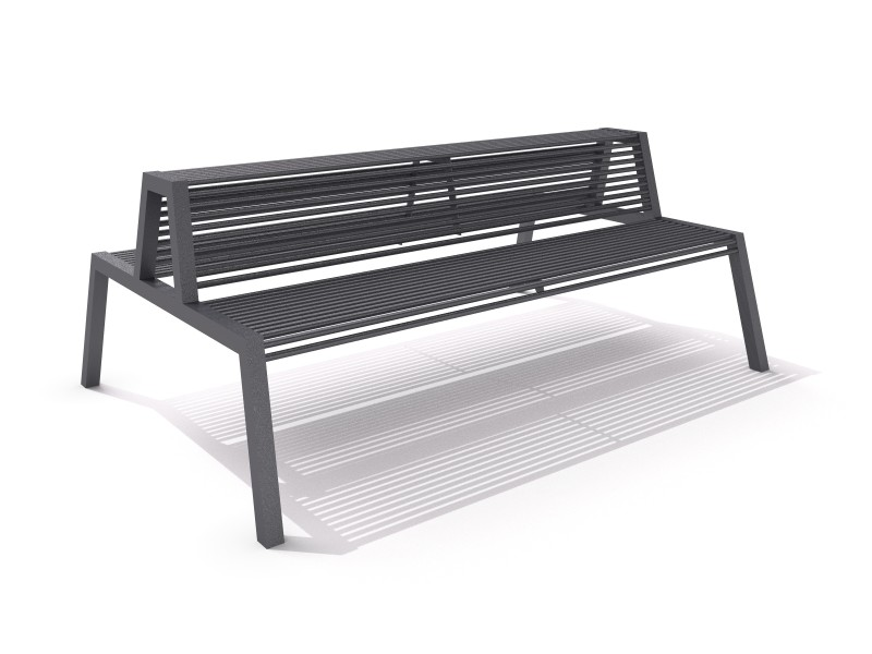 Steel bench 30 Inter-Play Spielplatzgeraete