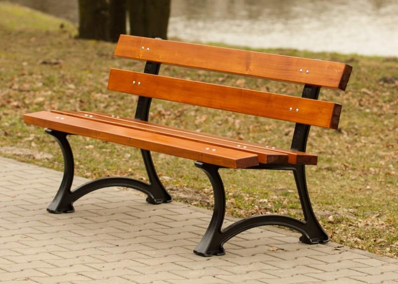 Cast-iron bench 03 Inter-Play Spielplatzgeraete