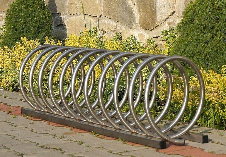 Fahrradständer aus Edelstahl 13 Inter-Play Spielplatzgeraete