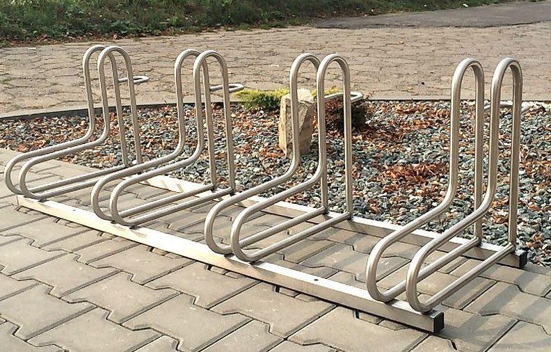 Fahrradständer aus Edelstahl 19 Inter-Play Spielplatzgeraete