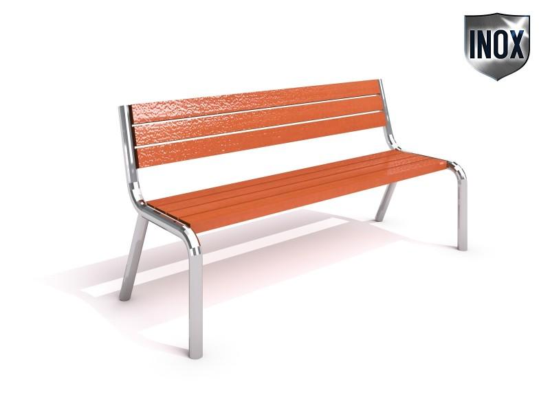 Sitzbank aus Edelstahl 02 Inter-Play Spielplatzgeraete
