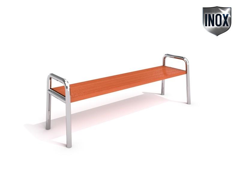 Sitzbank aus Edelstahl 03 Inter-Play Spielplatzgeraete