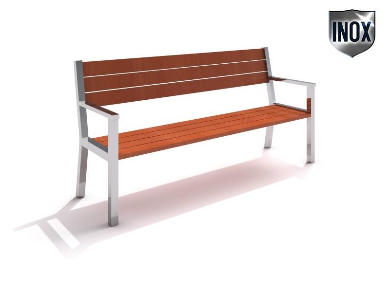 Stainless steel bench 07 Inter-Play Spielplatzgeraete