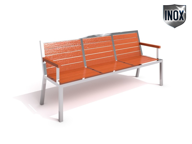 Stainless steel bench 09 Inter-Play Spielplatzgeraete