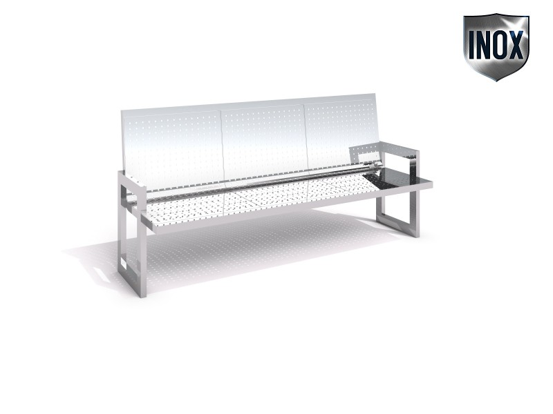 Stainless steel bench 11 Inter-Play Spielplatzgeraete