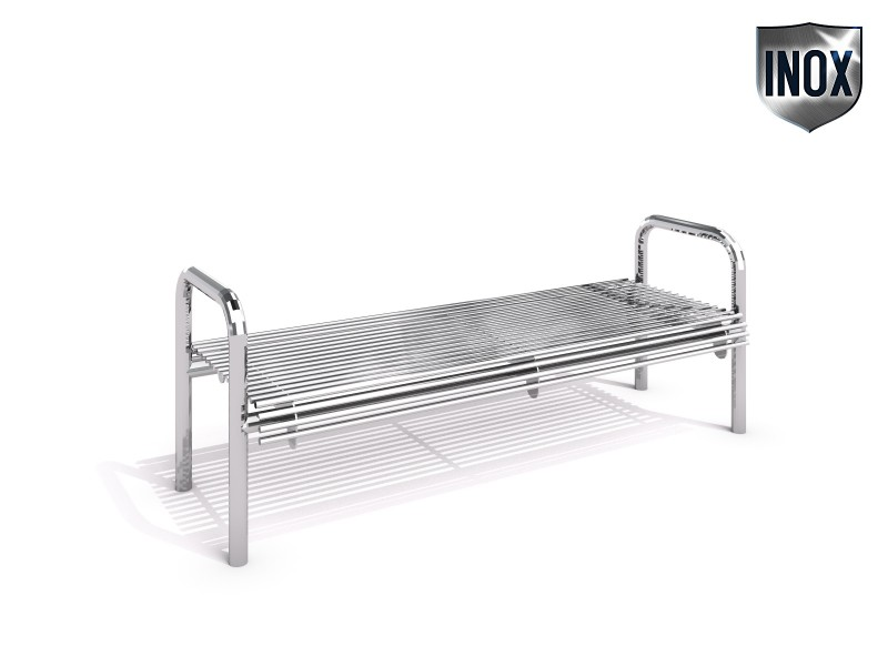 Stainless steel bench 17 Inter-Play Spielplatzgeraete