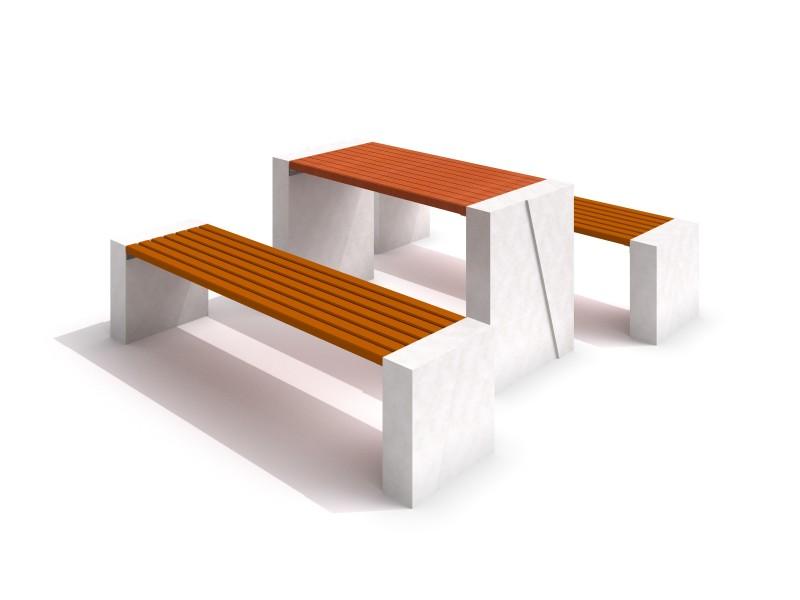 DECO white concrete table 02 Inter-Play Spielplatzgeraete
