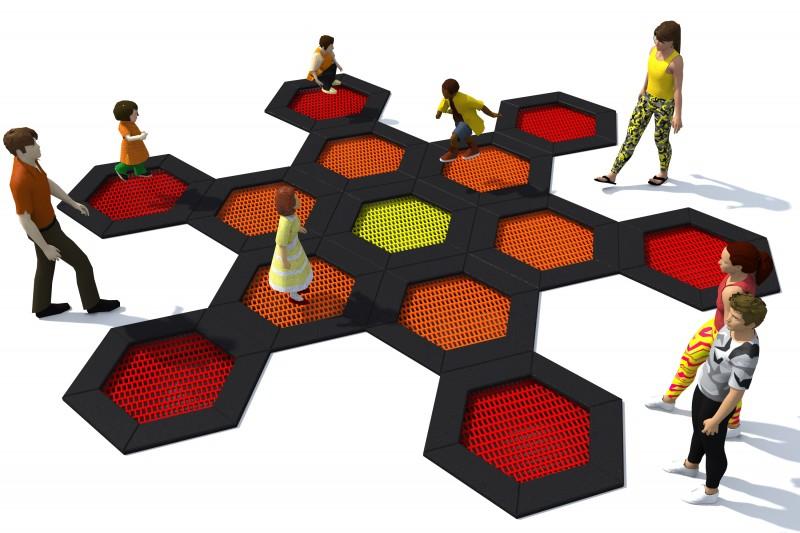 Playground Equipment for sale Trampolin Hexo 3B Professional manufacturer