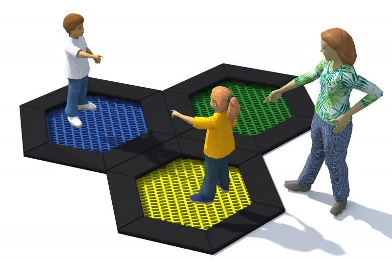 Playground Equipment for sale Trampolin Hexo 4B Professional manufacturer
