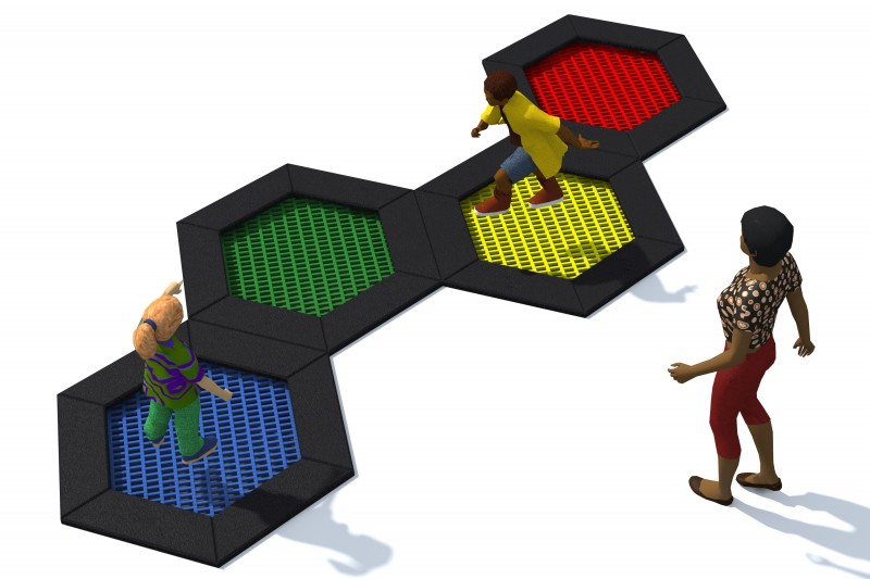Playground Equipment for sale Trampolin Hexo 6A Professional manufacturer