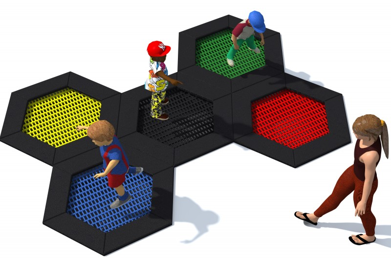Playground Equipment for sale Trampolin Hexo 3A Professional manufacturer