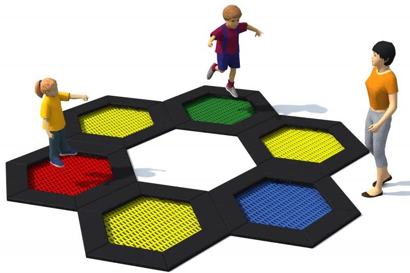 Playground Equipment for sale Trampolin Hexo 1 Professional manufacturer
