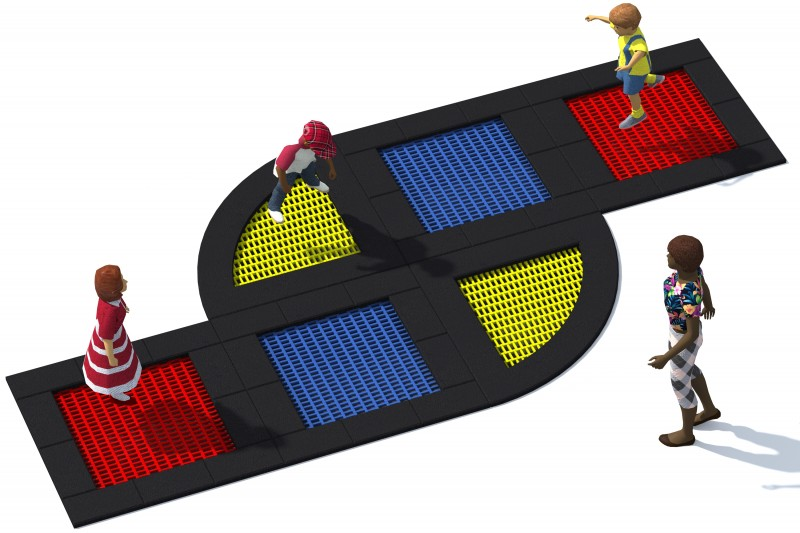 Playground Equipment for sale Trampolin Tuto 17 Professional manufacturer