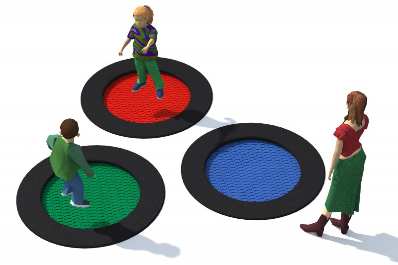 Playground Equipment for sale Trampolin Tuto 2 Professional manufacturer