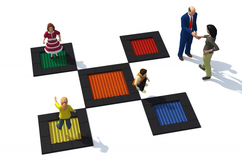 Playground Equipment for sale Trampolin Tuto 6 Professional manufacturer