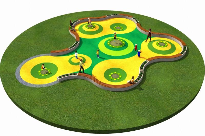 Trampolines  Layout 8 Inter-Play Spielplatzgeraete