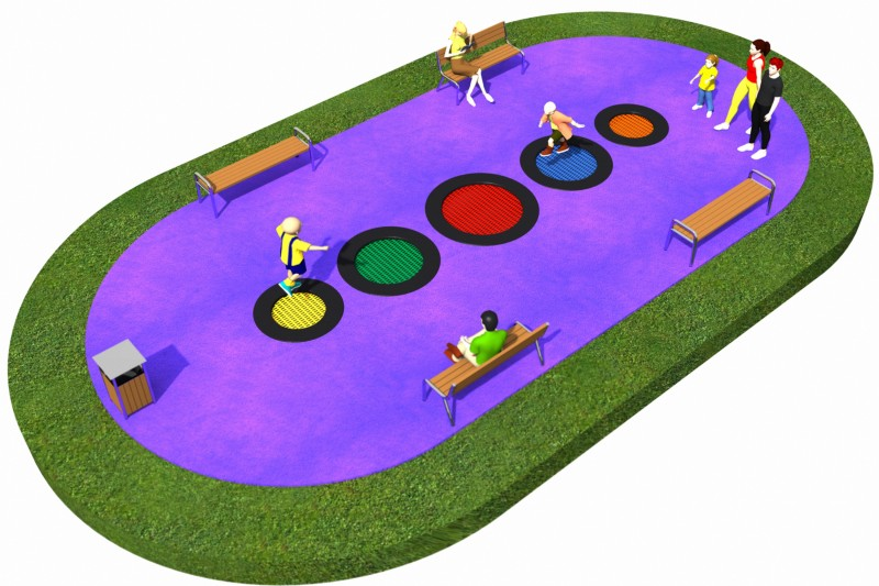 Trampolines  Layout 20 Inter-Play Spielplatzgeraete