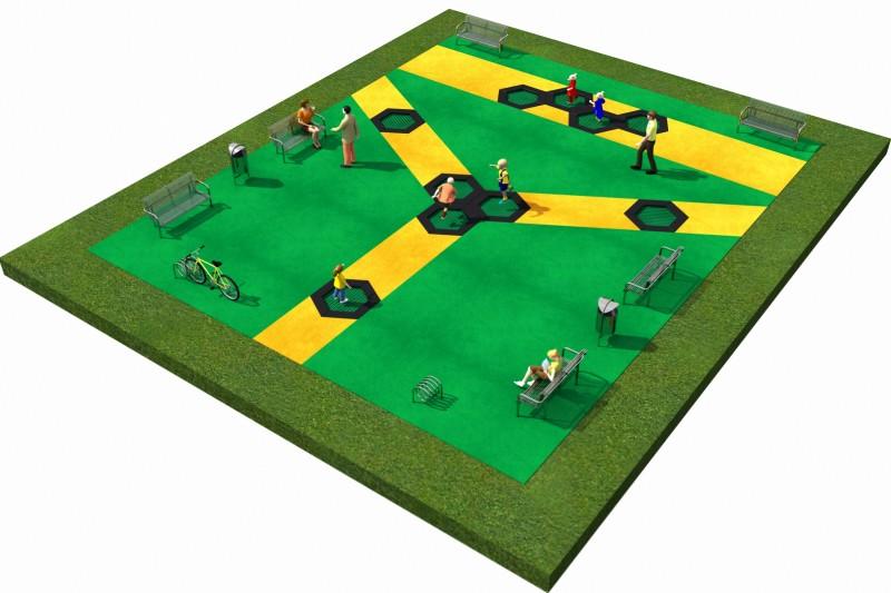 Trampolines  Layout 4 Inter-Play Spielplatzgeraete