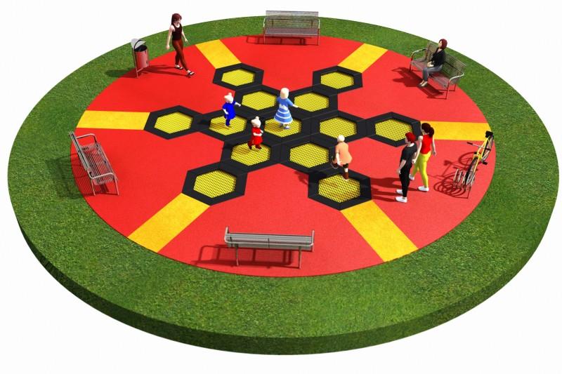 Trampolines  Layout 5 Inter-Play Spielplatzgeraete