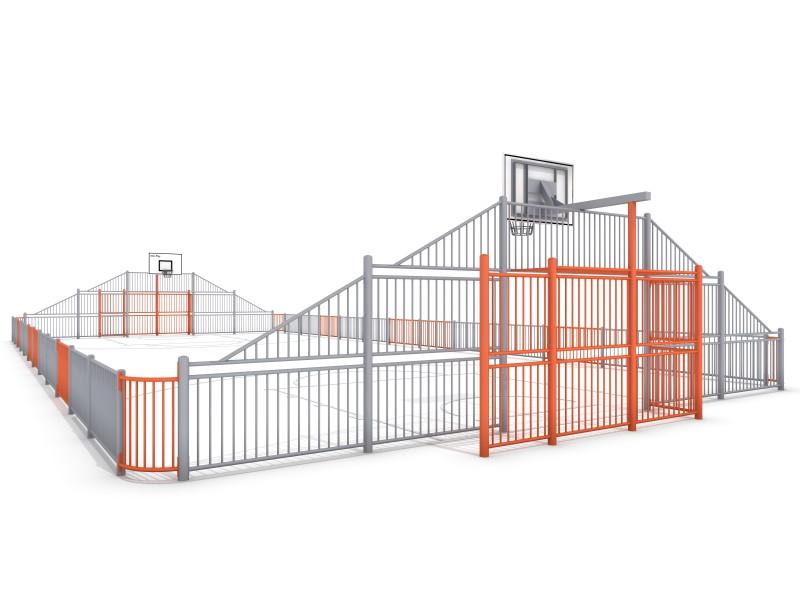 SOCCER  ARENA 2 (25x12m) Inter-Play Spielplatzgeraete