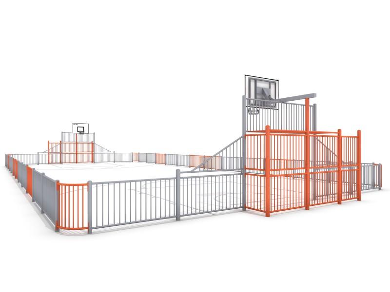 Sportplatz ARENA 2a (25x12m) Inter-Play Spielplatzgeraete