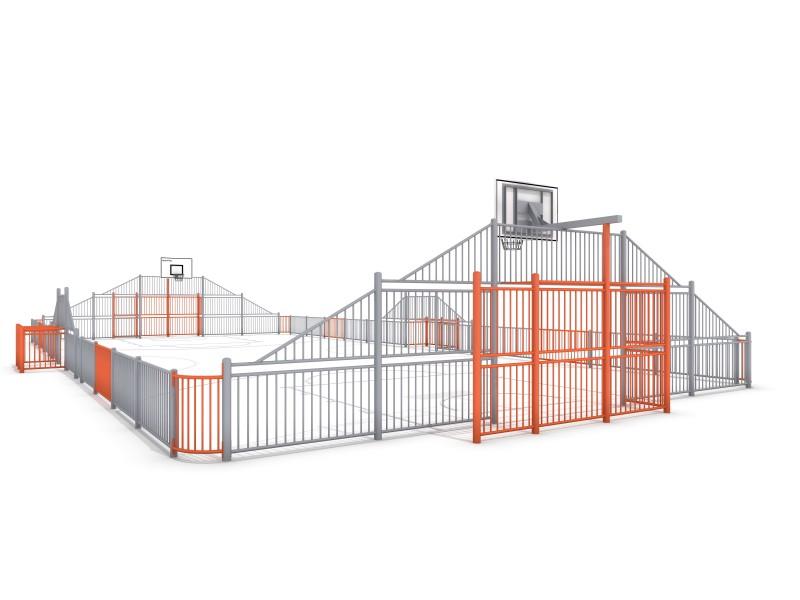 SOCCER  ARENA 4 (25x12m) Inter-Play Spielplatzgeraete