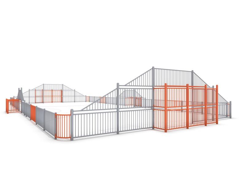 SOCCER  ARENA 4a (25x12m) Inter-Play Spielplatzgeraete