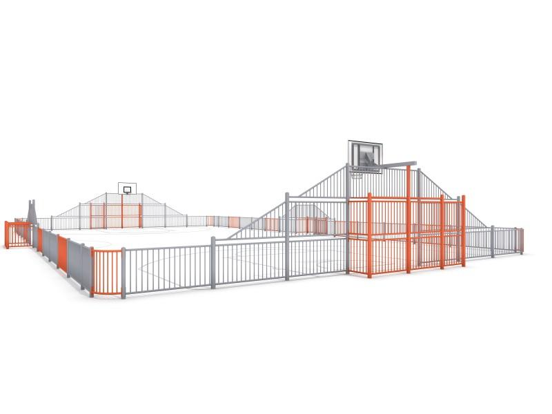 Sportplatz ARENA 5 (29x16m) Inter-Play Spielplatzgeraete