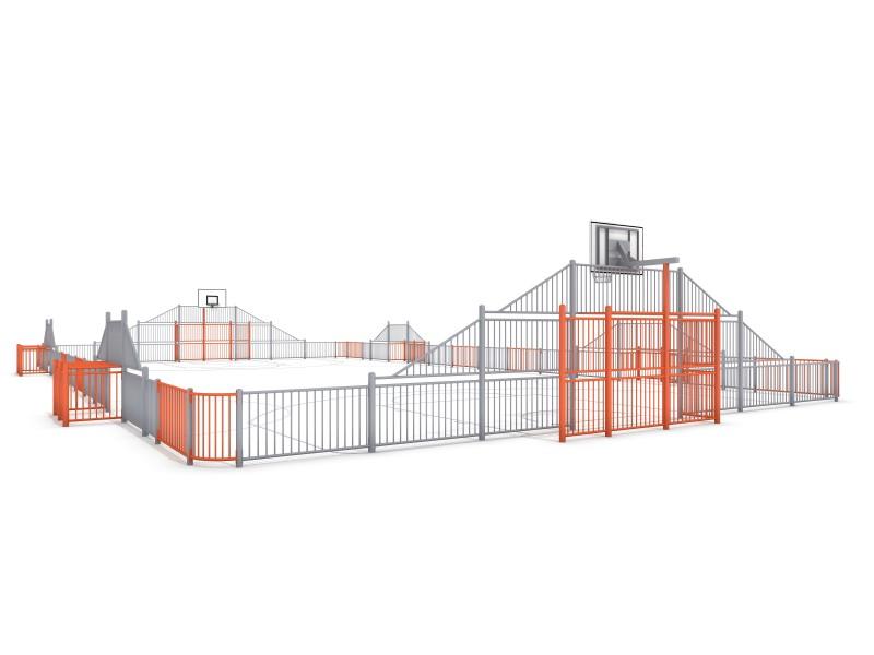 Sportplatz ARENA 5b (29x16m) Inter-Play Spielplatzgeraete