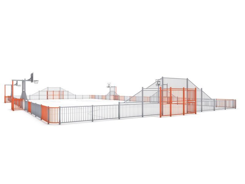 SOCCER  ARENA 6a (39x20m) Inter-Play Spielplatzgeraete