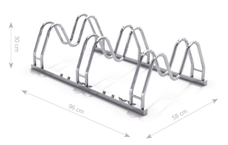 Stahl Fahrradständer 16 Inter-Play Spielplatzgeraete