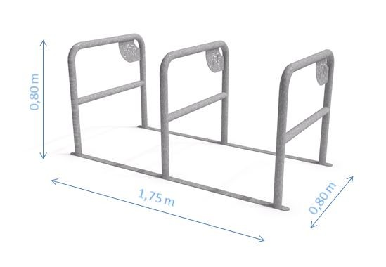 Stahl Fahrradständer 05 Inter-Play Spielplatzgeraete