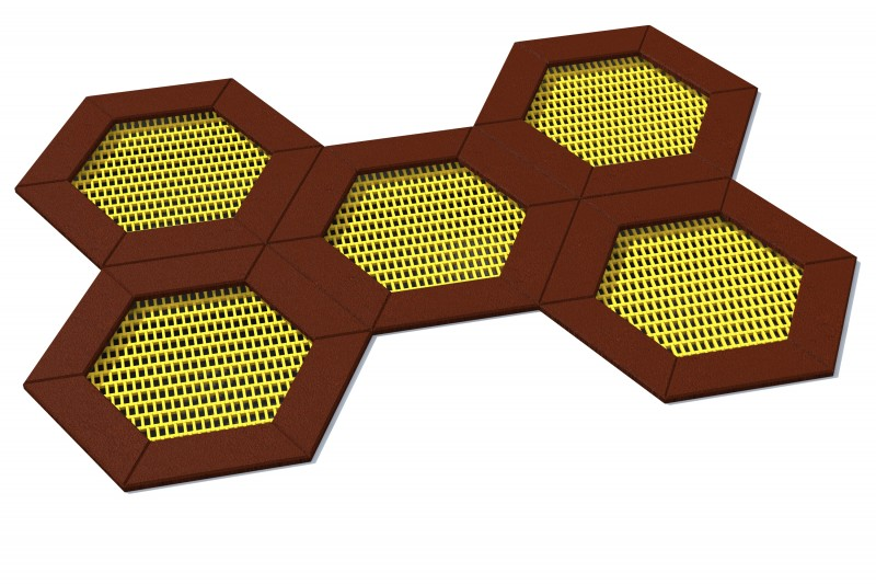 Trampolin Hexo 5A Inter-Play Spielplatzgeraete