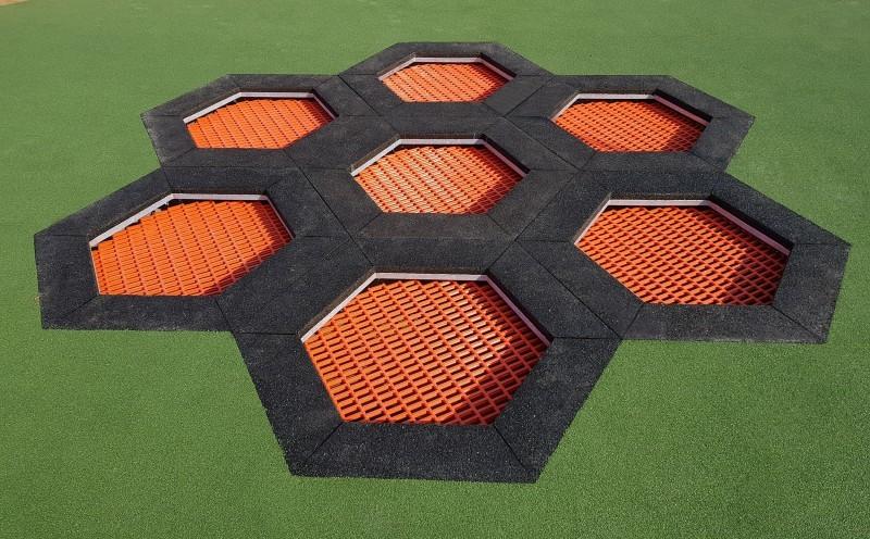Trampoline Hexo 7A Inter-Play Spielplatzgeraete